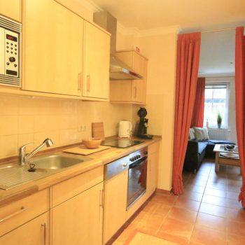 Ferienwohnung Leuchtturm - komplett ausgestattete Küche