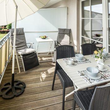 Ferienwohnung Meeresglück - Balkon